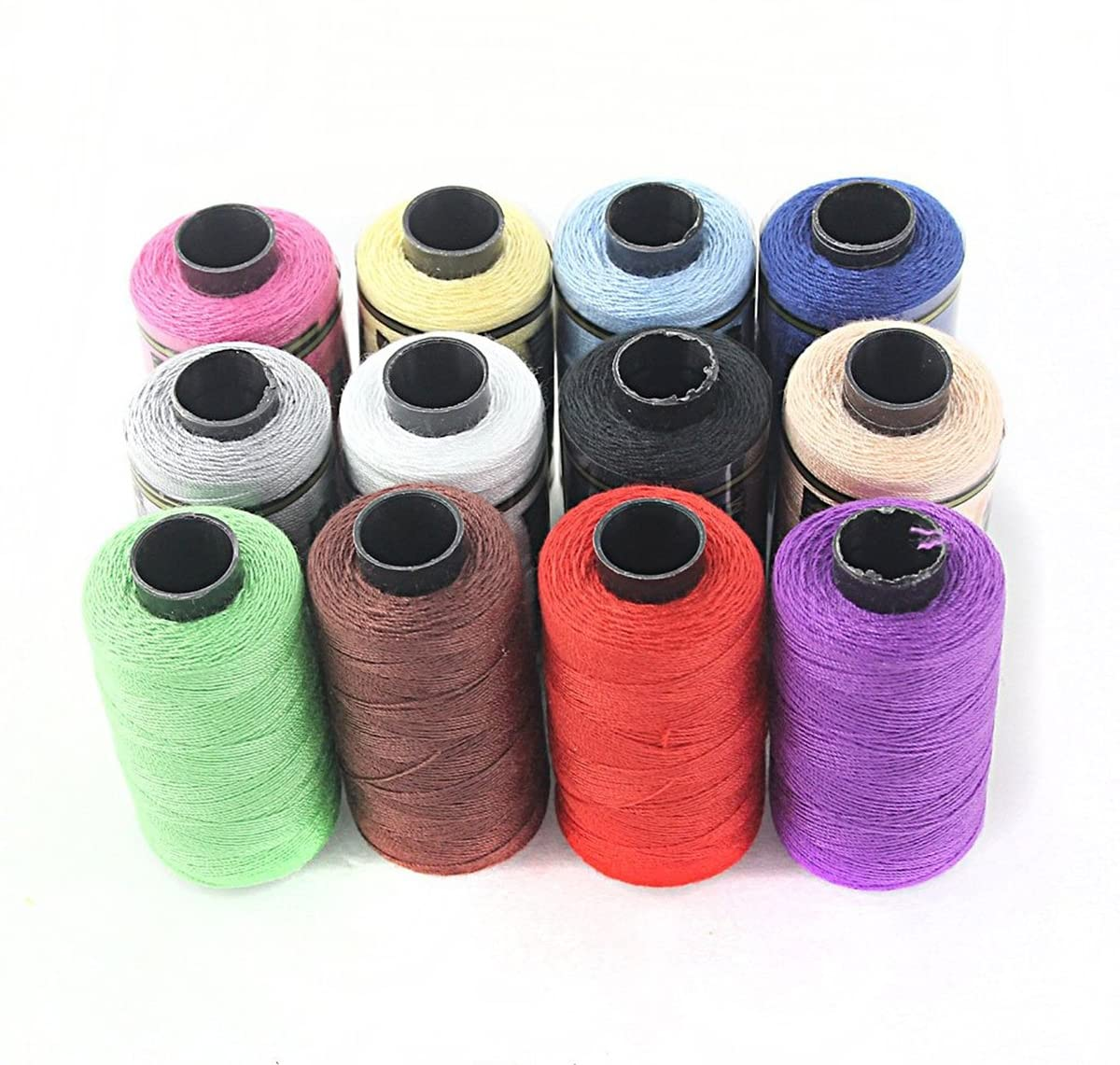ROSENICE Sewing Thread Spools Sewing Thread Sewing Kit Yarn Coils Strings 12pcs