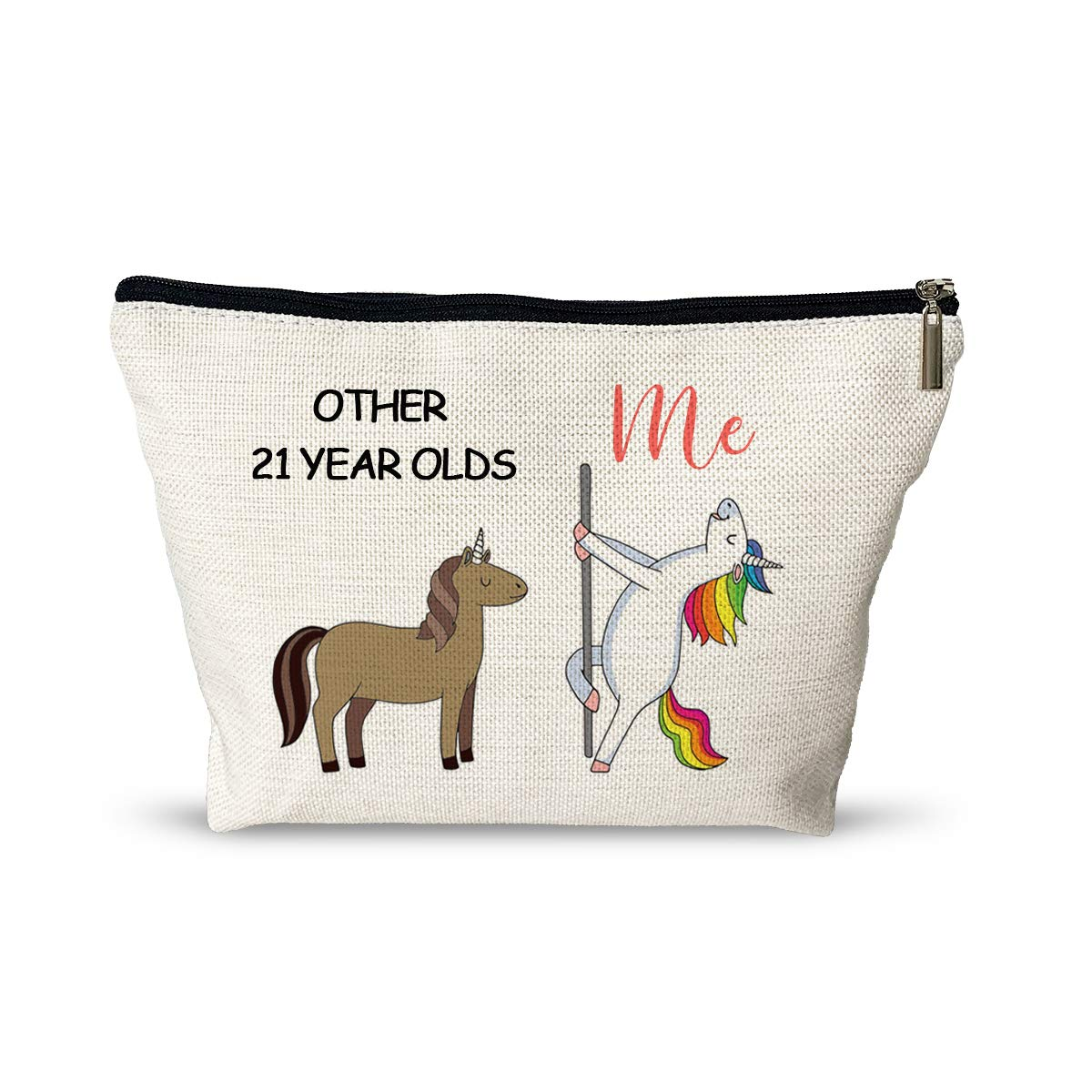 21st Birthday Gifts for Women Cosmetic Bags - Funny 0ther 21 Year Olds Makeup Bag - Retirement/Commemorative/Christmas Gifts Makeup Travel Case for Her, Friend, Mom, Sister, Wife, Coworker