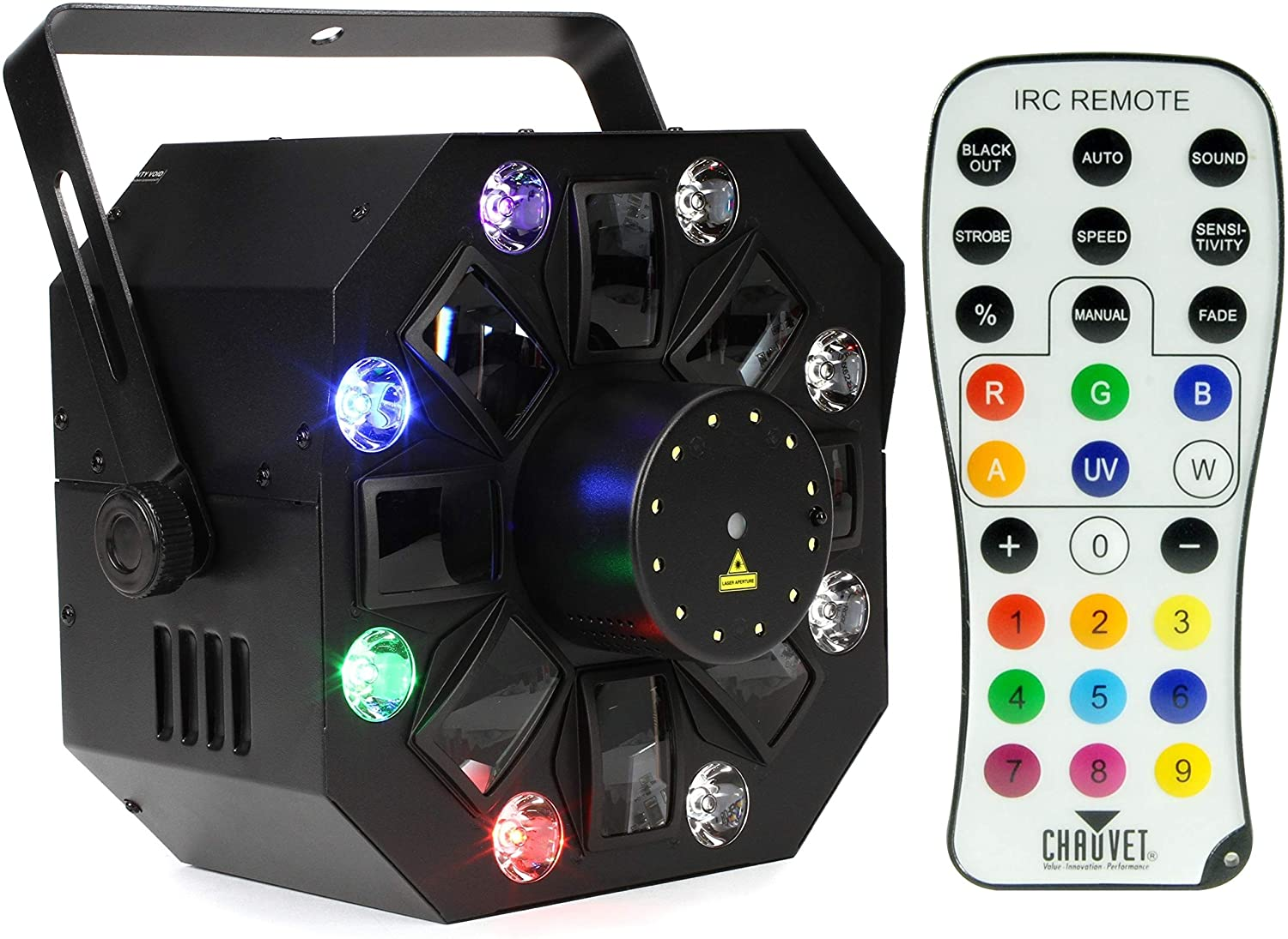 Chauvet DJ IRC-6 Infrared Remote Control + Chauvet DJ Swarm Wash FX 4-in-1 Derby/Wash/Laser/Strobe Effect Value Bundle