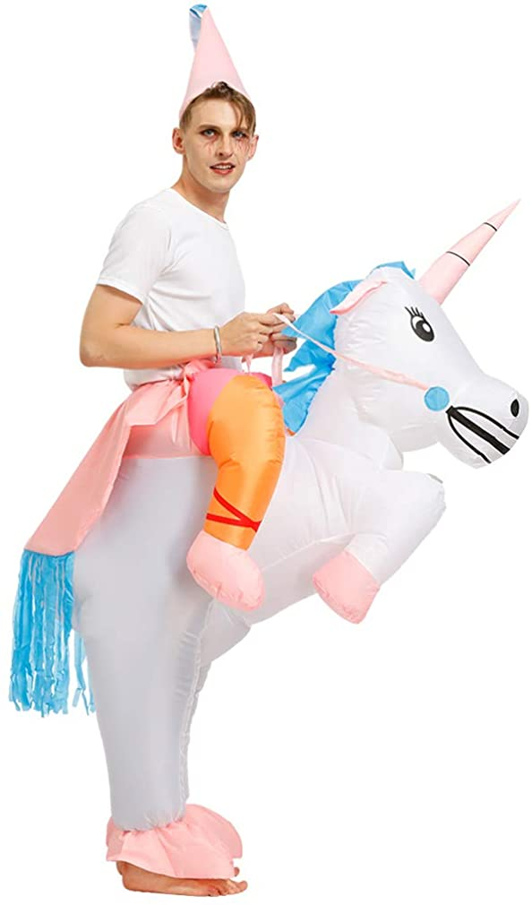 Arokibui Funny Unicorn Inflatable Costume for Women Animal Blow up Costume for Halloween Cosplay Party Christmas Costume