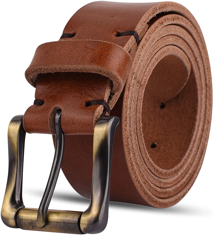 Men's Classic Italian Leather Jeans Belts