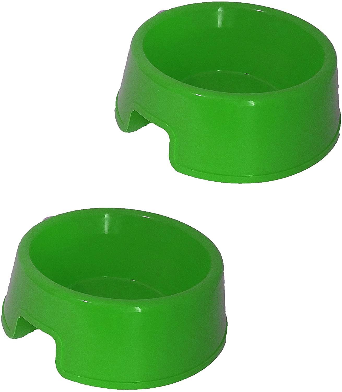 Black Duck Brand Set of 2 BPA Free Bold Blue Durable Plastic Large Dog Feeder Bowls