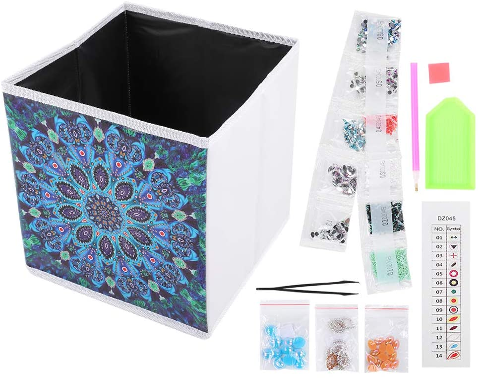 Adults Diamond Painting Kits DIY Crystal Rhinestone Decoration Supplies for Home with Foldable Storage Box