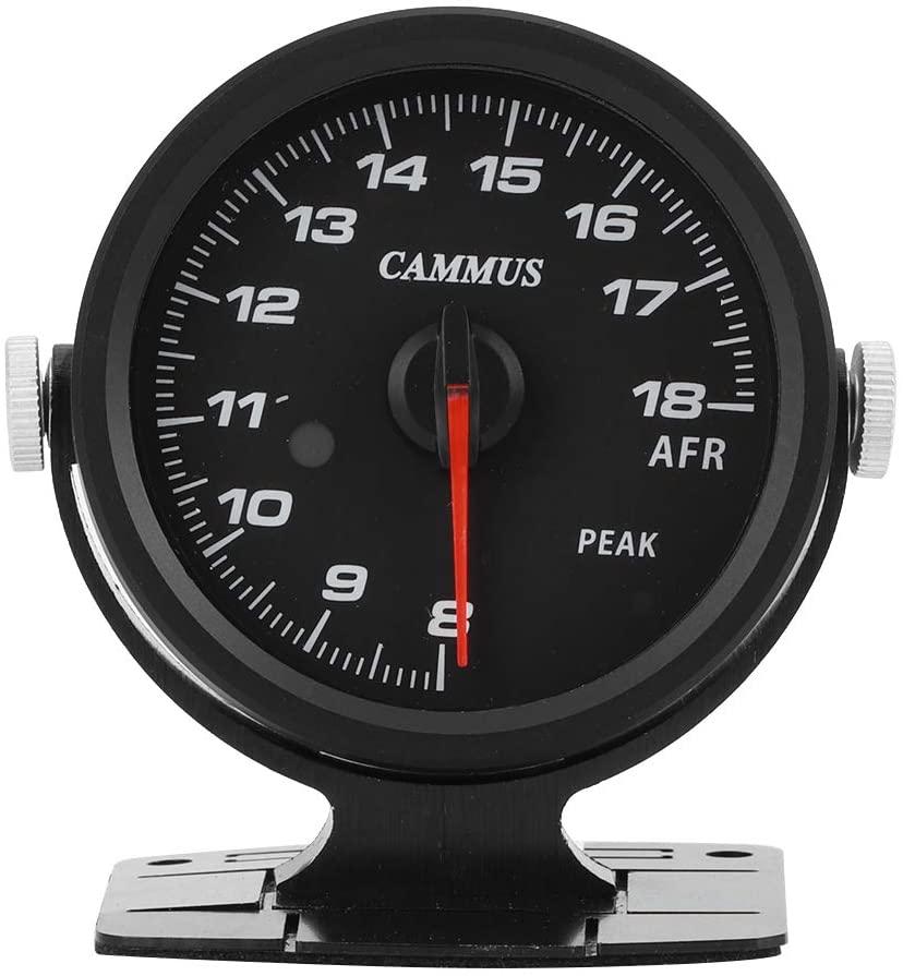 Qiilu Air Fuel Ratio Meter, Cammus Racing Air Fuel Ratio Gauge 60mm Tinted 17 Color OBD2 Meter Single‑Function