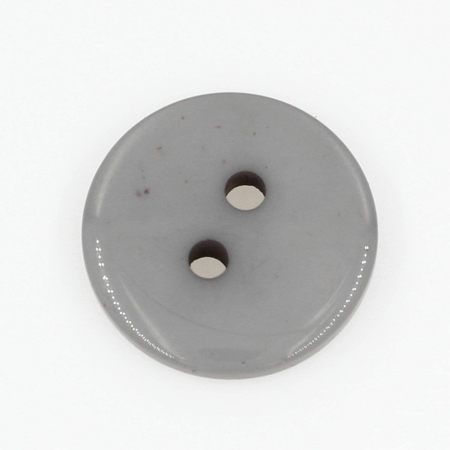 11.5mm (0.43'') Round Resin Sewing Buttons for Craft Grey Color Pack of 500 Pcs Leekayer