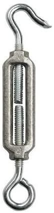 Turnbuckle, Hook & Eye, Aluminum, 3/8-16 In, (Pack of 5)