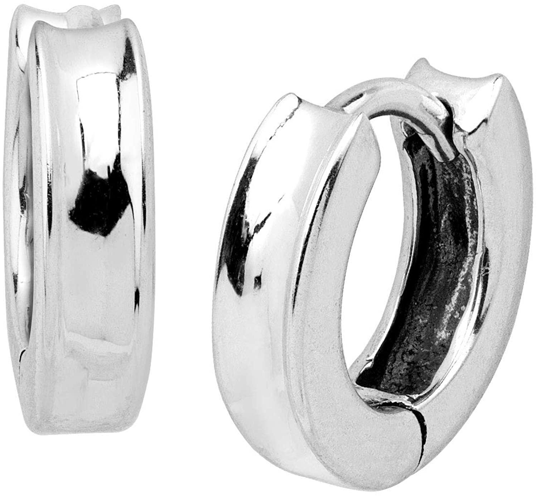 Silpada Soleil Concave Huggie Hoop Earrings in Sterling Silver