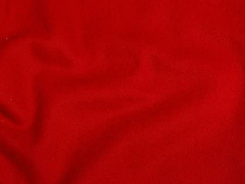 Red Heavy Weight Wool Blend Fabric (red)