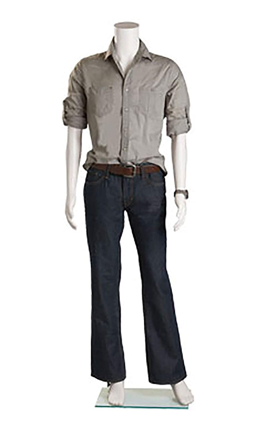 Male Headless White Plastic Mannequin - Height 5'7½