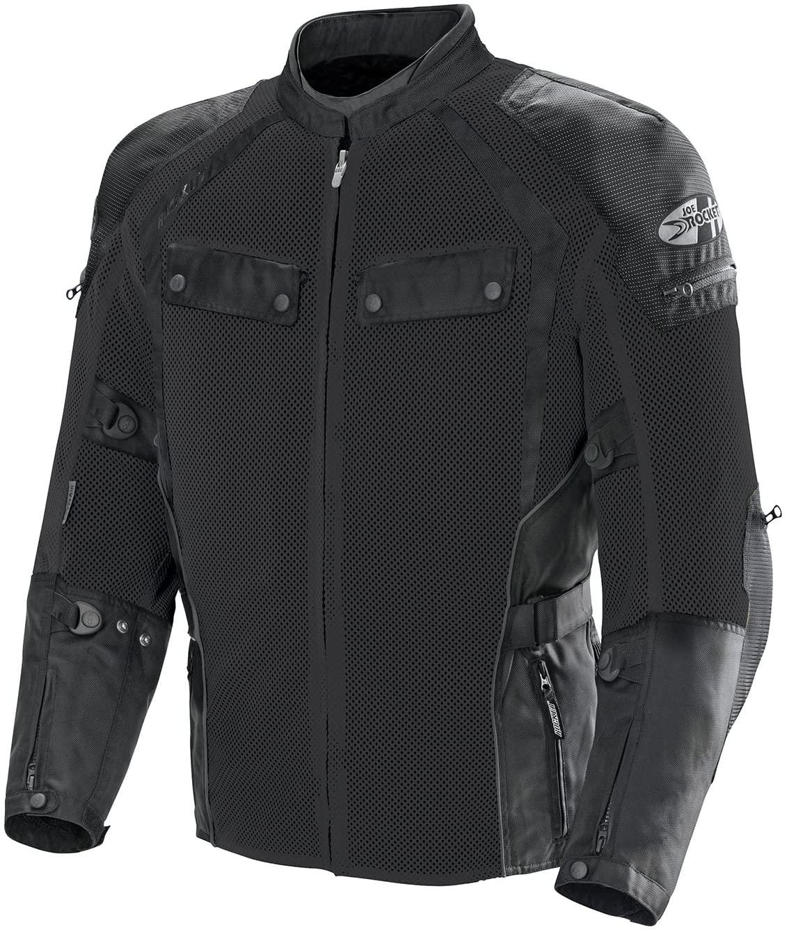 Joe Rocket Men's Phoenix Ion Summit Mesh Motorcycle Jacket (Black/Black, Large)