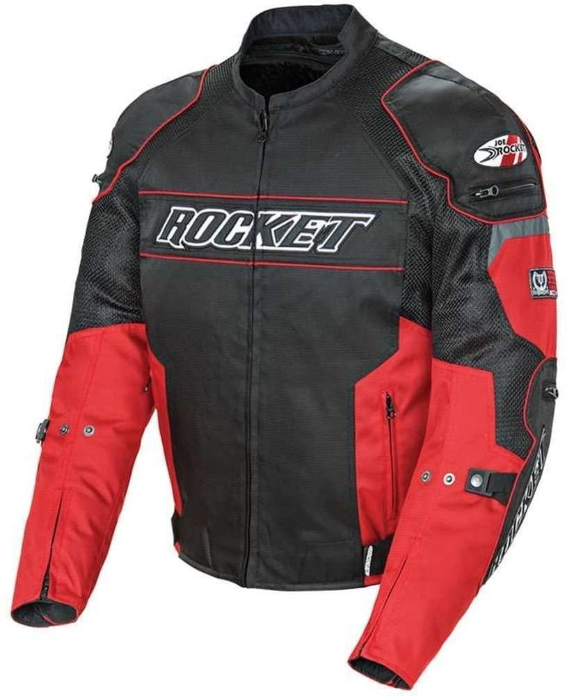 Joe Rocket 1460-1102 Resistor Men's Mesh Motorcycle Jacket (Red/Black, Small)