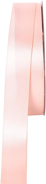Joenribbon 1 Inch Wide Double Face Satin Ribbon-50 Yards (714 Petal Peach)