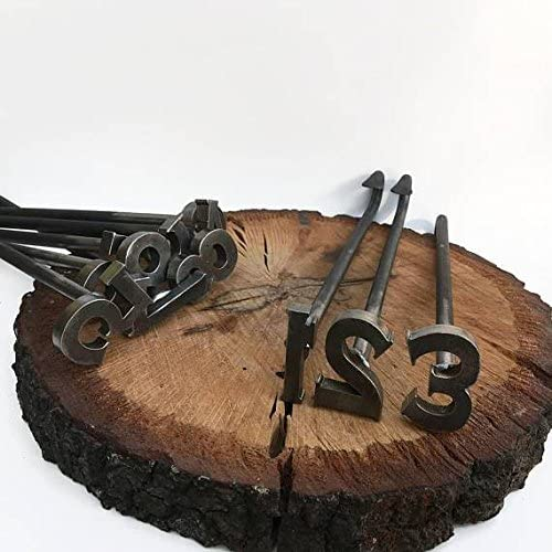 The Heritage Forge 0-9 Number Branding Irons - 10 Numbers - Custom Cowboy Monogram Hand-Forged Basic…