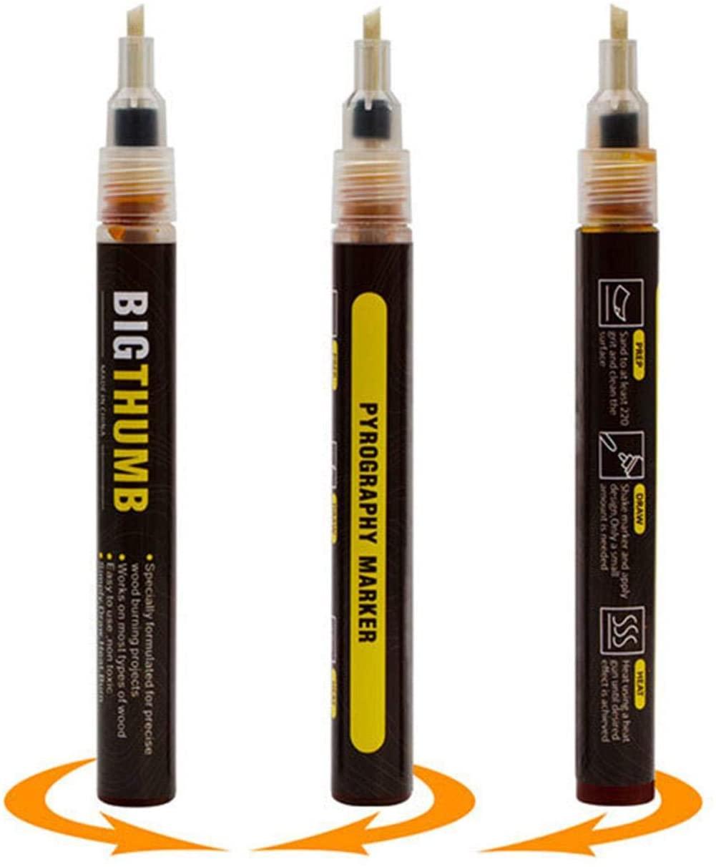Wood Burning Marker Pen,2020 Upgrade Marker Pyrography Pen Wood Burned Marker Pen for DIY Wood Painting,Easy use and Safe,Replace Wood Burning Iron Kit