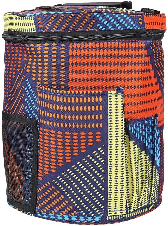 Knitting Bag Yarn Storage, Cylinder Storage Bag Durable Yarn Bag Knitting Yarn Wool Crochet Tool Organizer Crochet Bag for Knitting Accessories