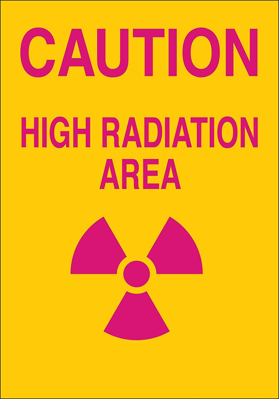 Brady 42850 Aluminum Radiation & Laser Sign, 14