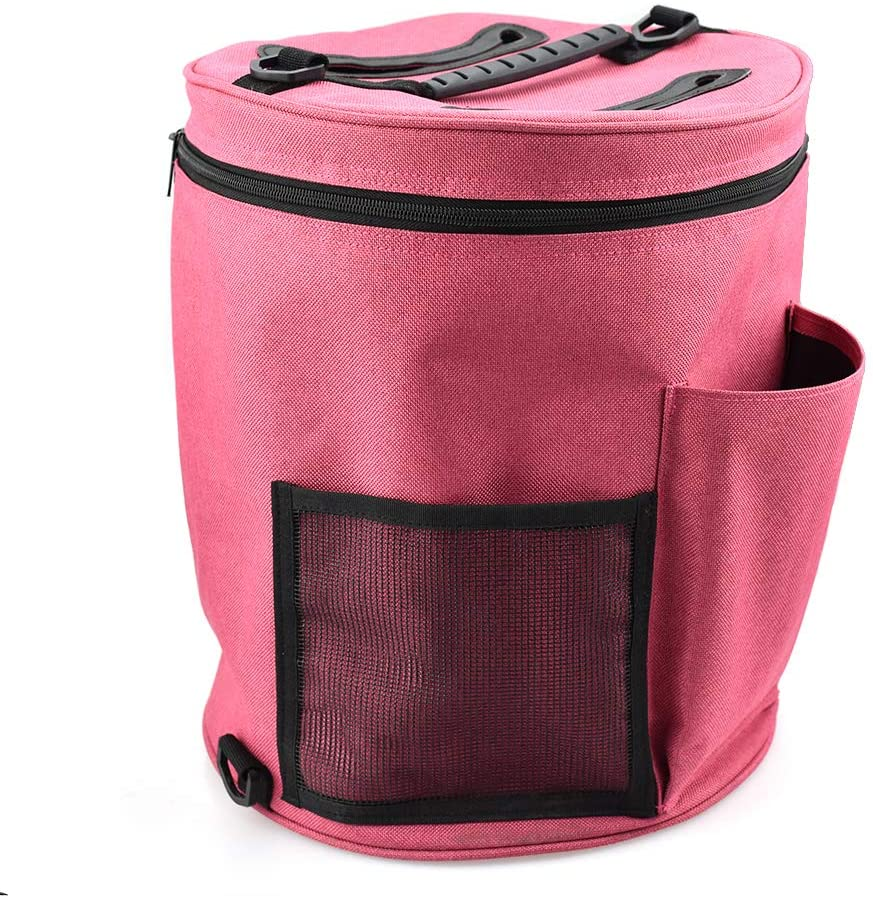 Portable Tote Easy to Crochet- AROYEL Yarn Storage Bag for Accessories and Slits on Top to Protect Yarn and Prevent Tangling (A)