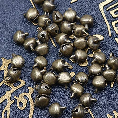 DAWEIF 100Pcs Bronze Metal Jingle Bells Christmas Festival Party DIY Craft Decoration Loose Beads Accessories