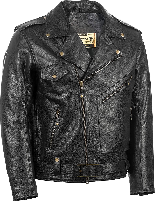 Highway 21 Murtaugh Men's Street Motorcycle Jacket - Black/Medium