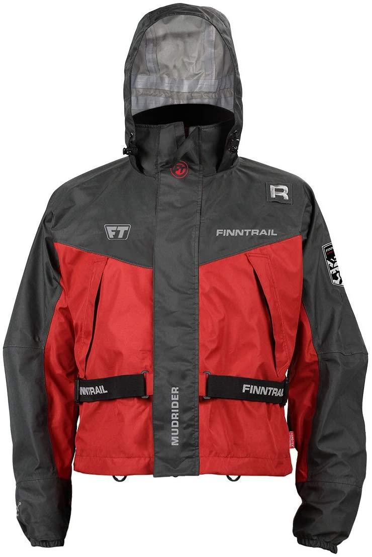 SuperATV Waterproof Mudrider Jacket for Off Road Riding ATV/UTV - Red - Small