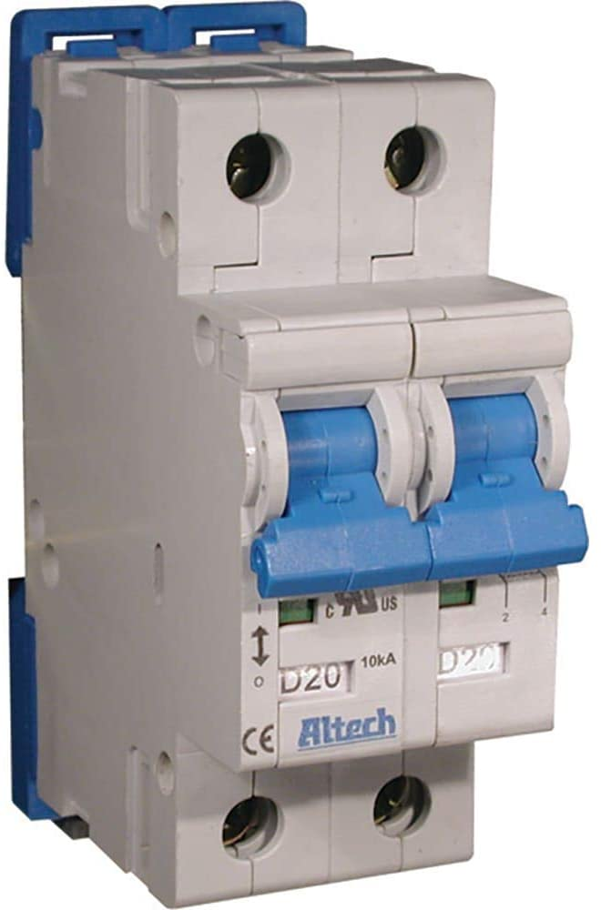 Circuit Breaker; Therm/Mag; Hndl; Cur-Rtg 12A; DIN Rail; 2 Pole; Vol-Rtg 480Y/277VAC; D, Pack of 2