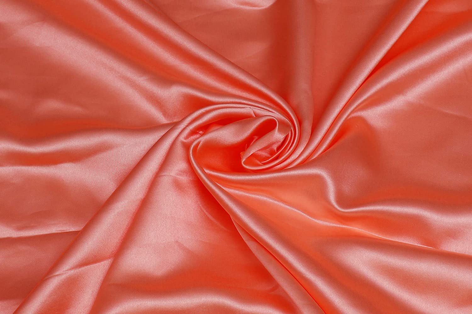 VINEX Bridal Lightweight Satin Fabric Wide Soft Fabric for Dress Voile Crafts Fashion Items Wedding Gowns and Party Decoration 5 Yard 44 inch Wide Peach