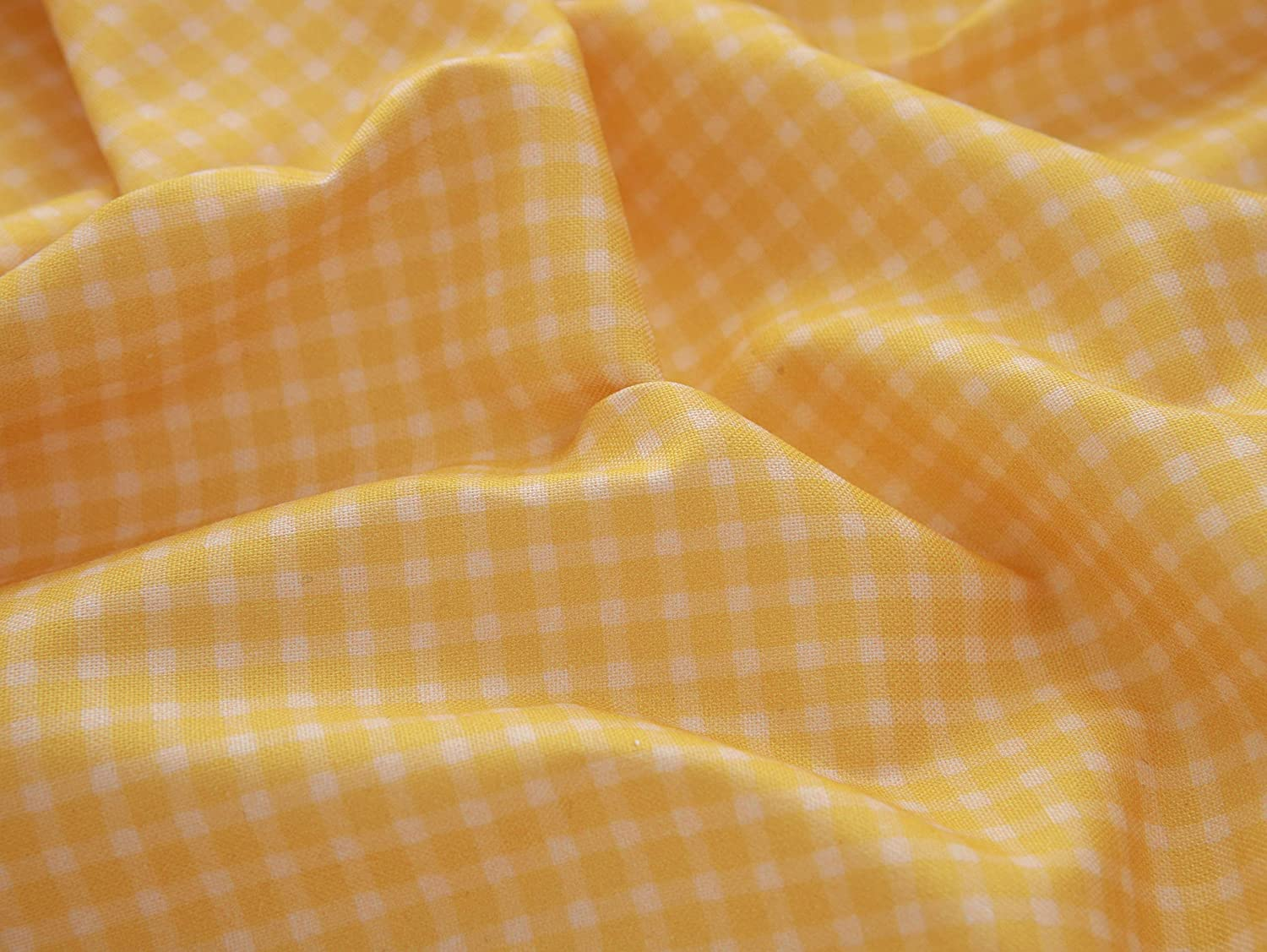 COTTONVILL EMANON Stripe Lazy Gingham 20COUNT Cotton Print Fabric (1yard, C-Gingham-03-Yellow)