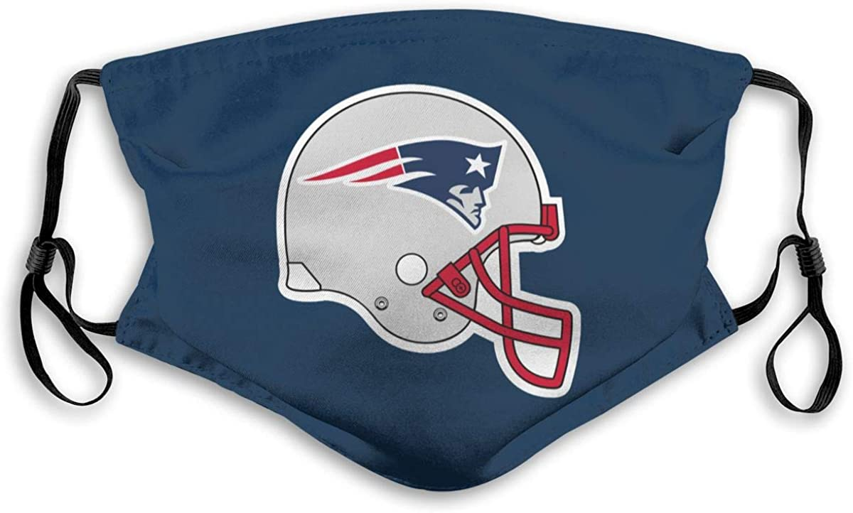 New_England_Patriots_Helmet Dust Washable Reusable Filter and Reusable Mouth Warm Windproof Cotton Face