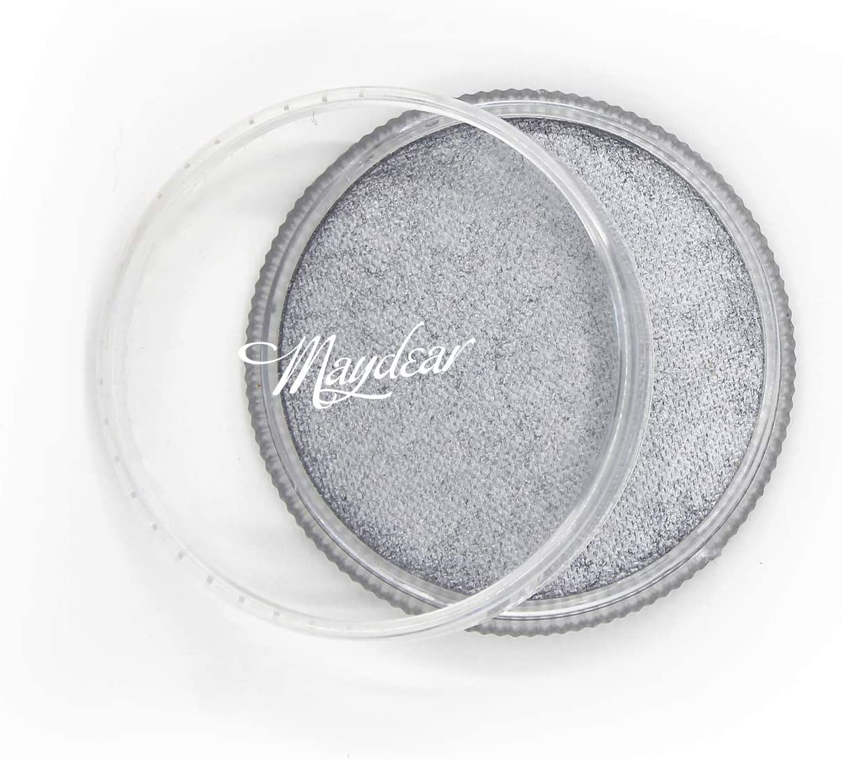 Maydear Face Body Paint, Classic Single, Professional Face Paint Palette,Large Water Based Paints (30g) (Metallic Silver)