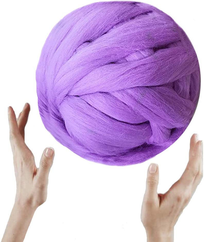 Merino Roving Super Soft Chunky Wool Yarn for Arm Knitted DIY Your Favorite Thick Blankets