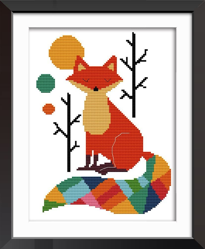 XIU TIME Cross Stitch Stamped Kits DIY Printed Embroidery Cloth Needlepoint Kits Easy Patterns for Beginners Color Style (8.66