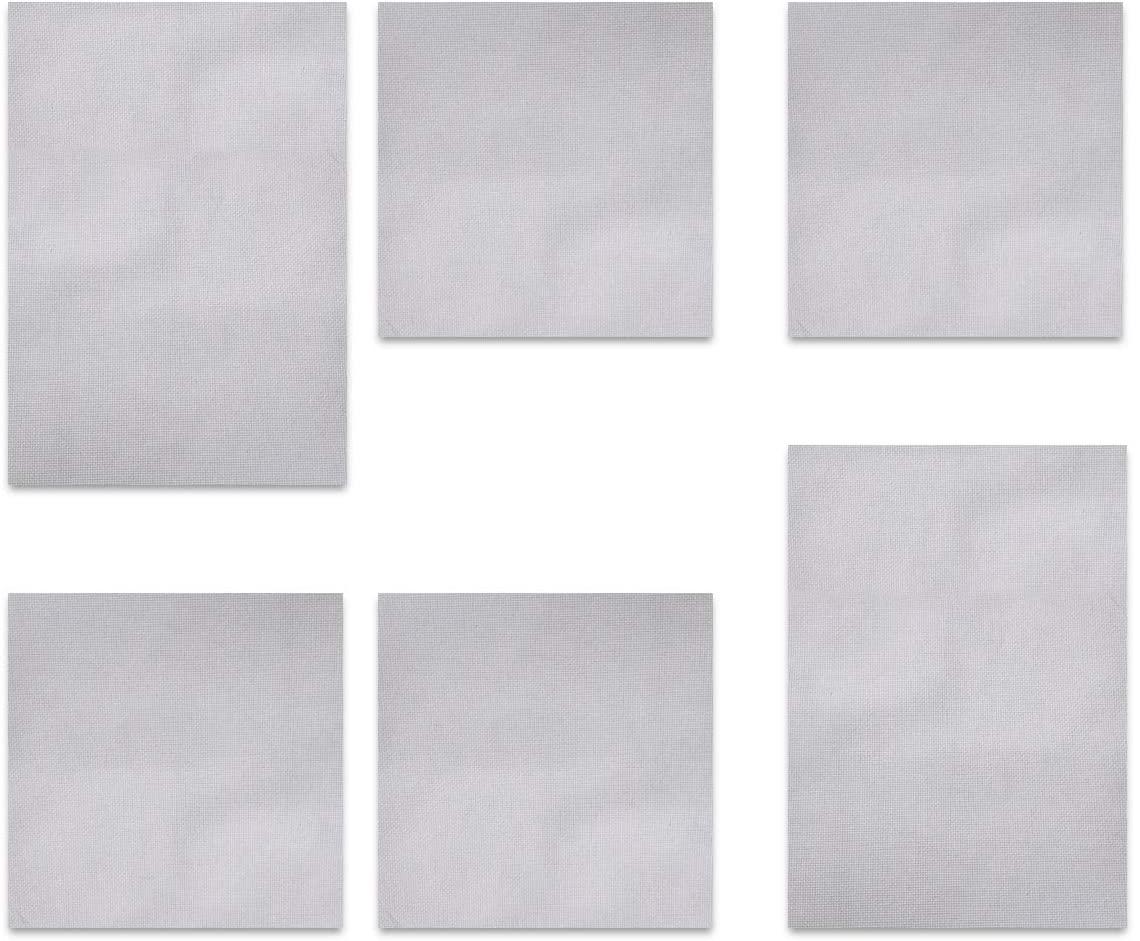 levylisa 6PCS Cross Stitch Aida Cloth 14CT White Classic Reserve Cross Stitch Fabric 12