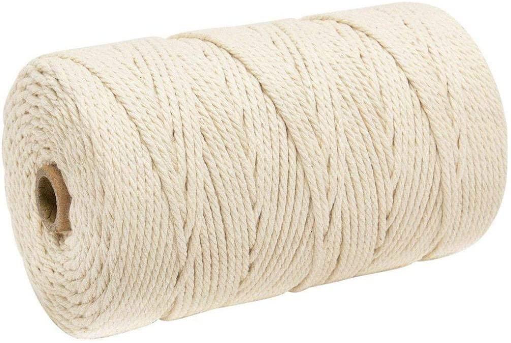 Bsjmlxg 3mm x 200m Macrame Cotton Cord for Wall Hanging Dream Catcher