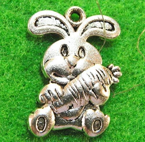 10Pcs. Tibetan Silver Cute Bunny Rabbit Charms Pendants Earring Drops AN106 from D&J