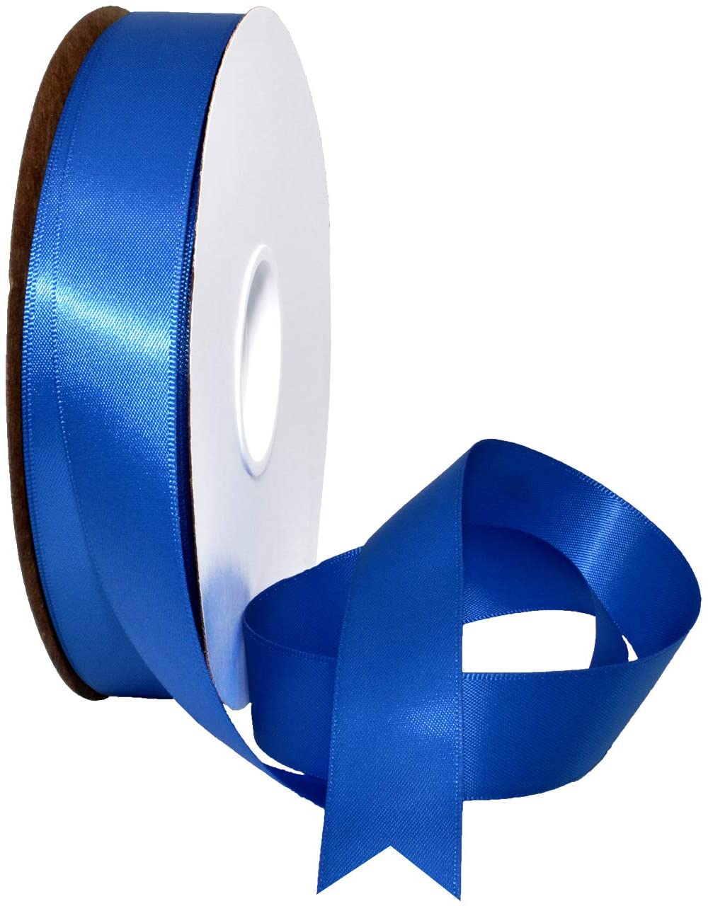 Morex Ribbon Double Face Satin Ribbon, 7/8 Inch by 50 Yards, Royal
