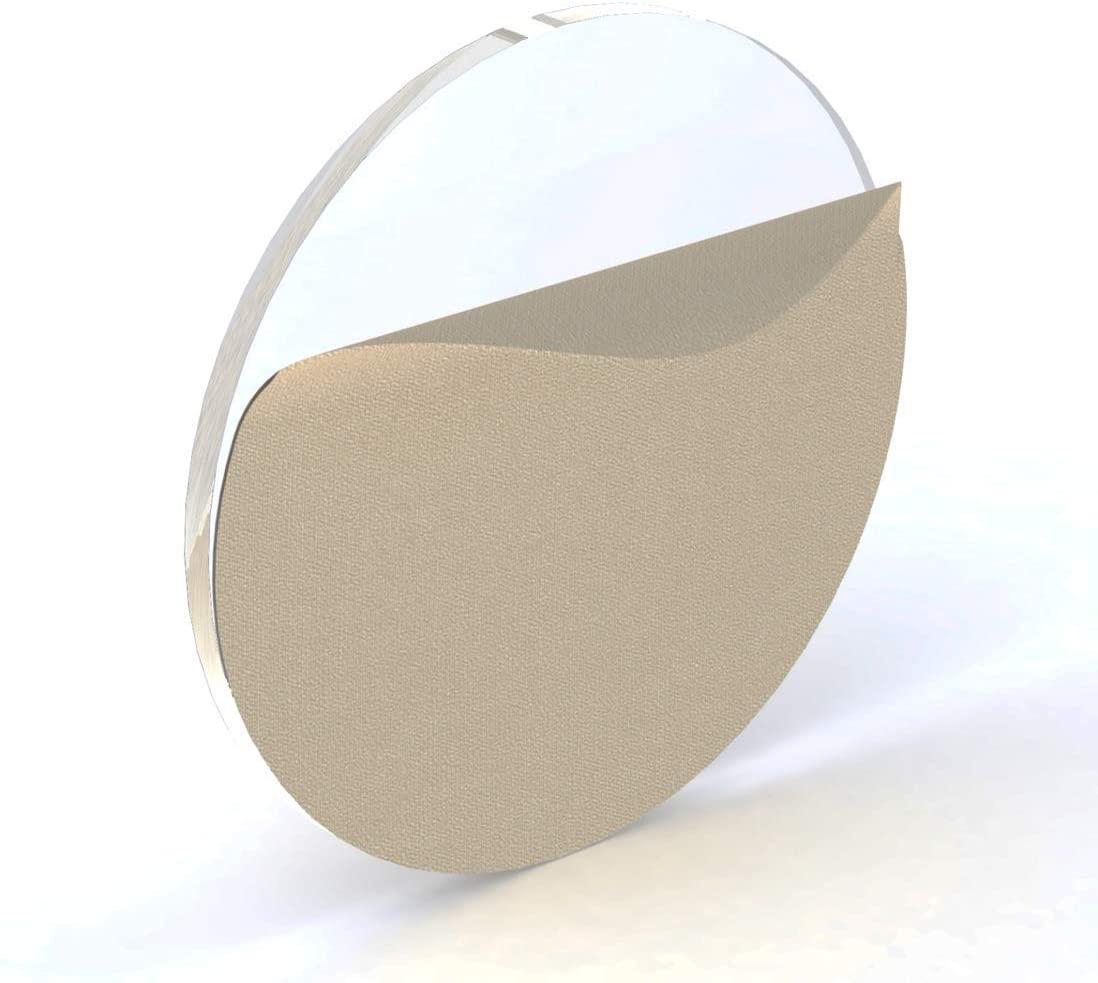 100 Acrylic Circle Clear Blank Discs 1/8