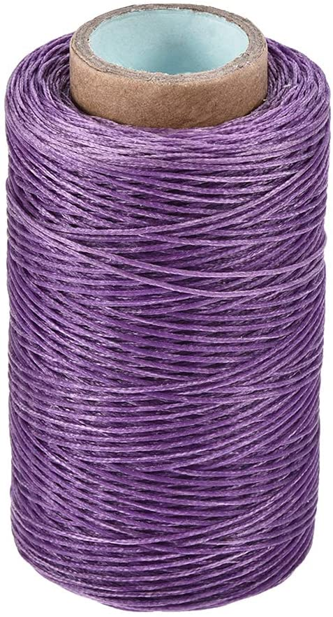 uxcell Leather Sewing Thread 273 Yards 150D/1mm Polyester Flat Waxed Cord for Hand Stitching Leather Bookbinding,Craft DIY, (Light Purple)