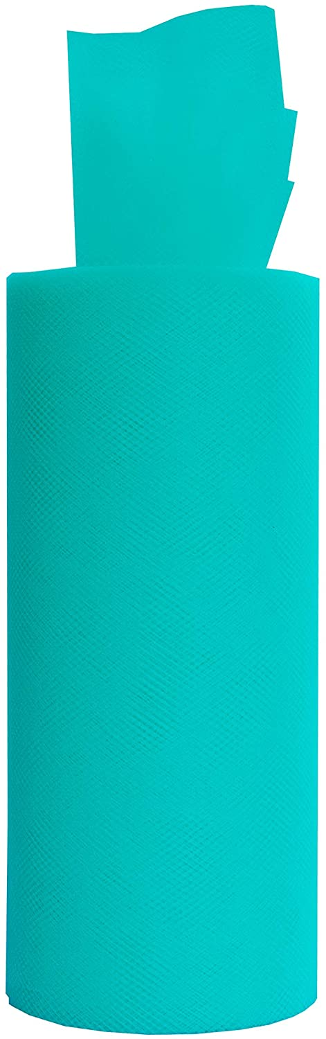 Premium Tulle Roll, Fabric Netting Spool Ribbon, 6 Inches Wide (Turquoise, 25 Yards) …