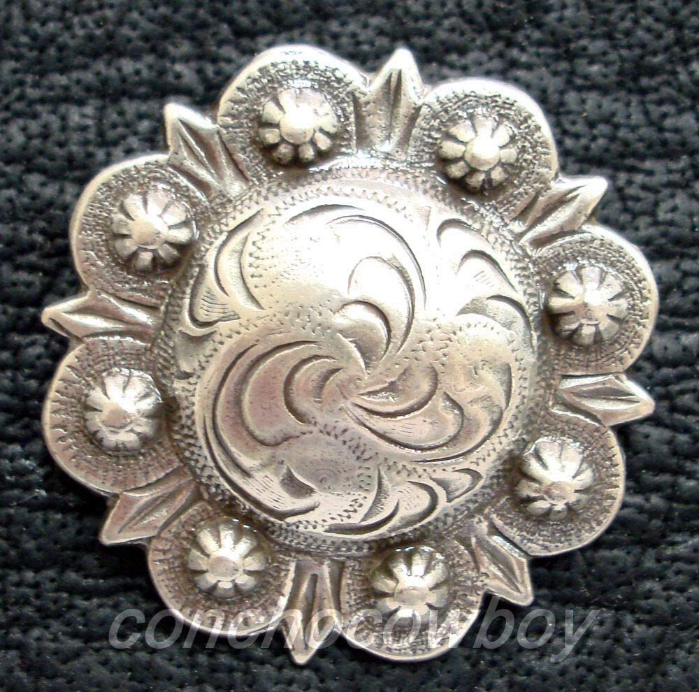 Conchos for Belt - Leather Fastener - Western Horse TACK Headstall Saddle Antique Berry Concho 1-3/4