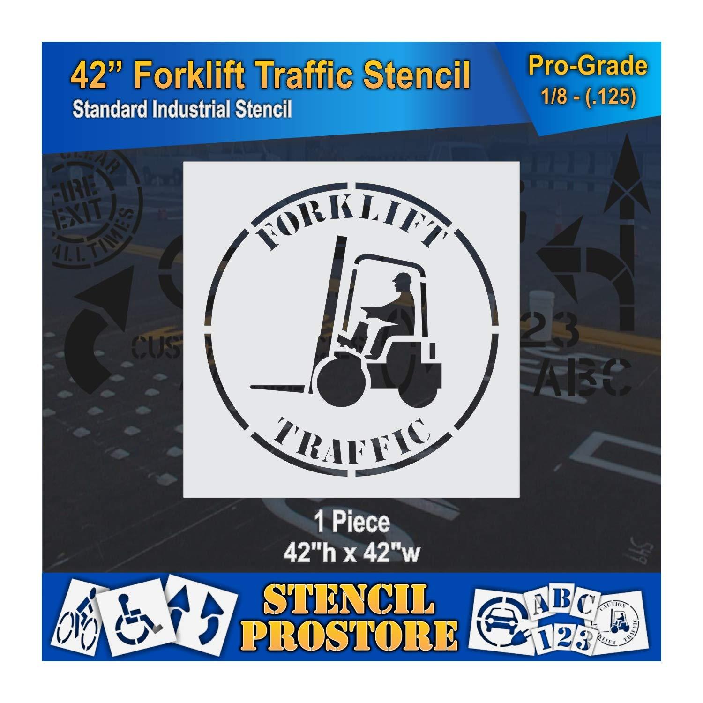Safety Floor Marking Stencil - 42 inch Forklift Traffic Stencil - 42 x 42 x 1/8 (128 mil) - Pro-Grade