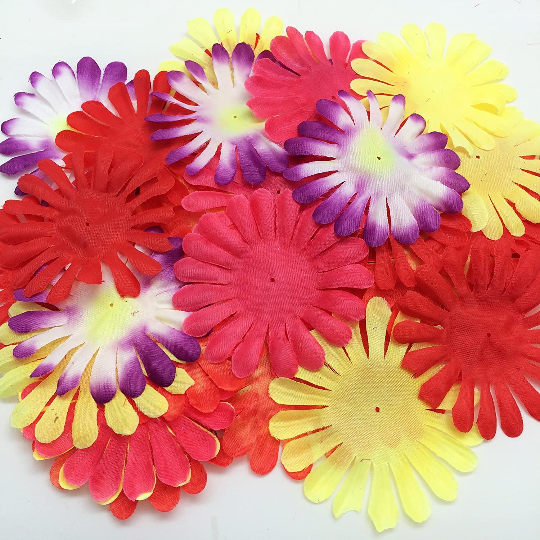 PEPPERLONELY Brand Mixed Fabric Flower 18 Petals, 1 OZ Approx.38PC+ Flower Petals, 115mm (4-1/2 Inch)