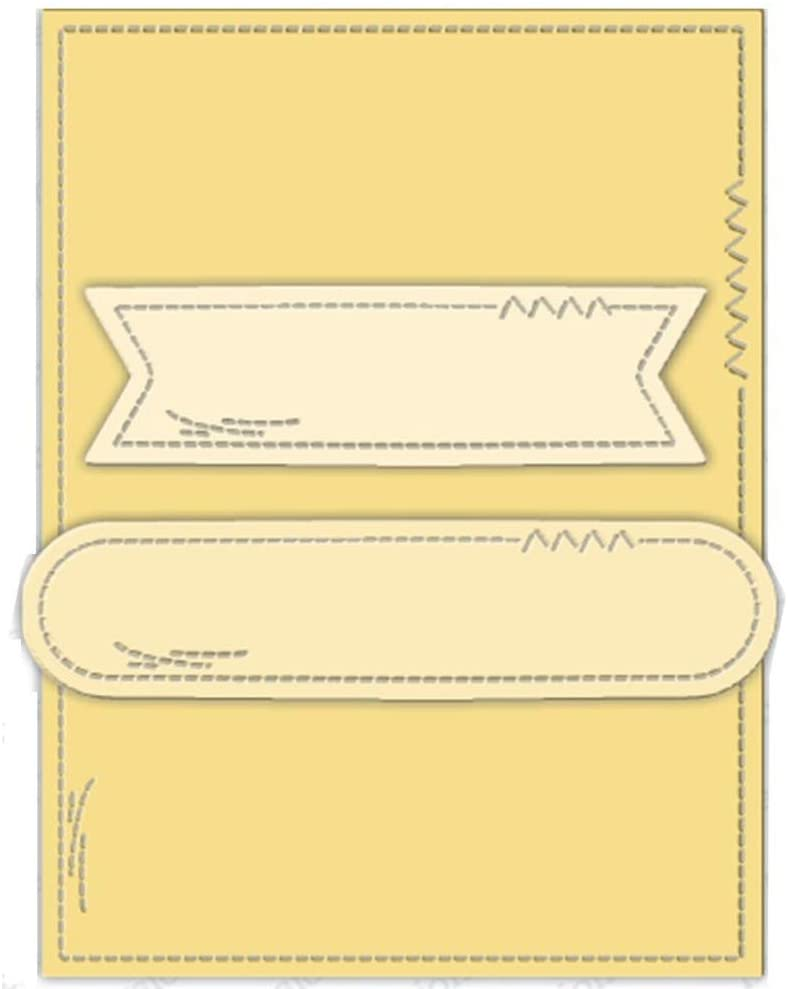 Rectangle Background with Two Labels Metal Cutting Dies for DIY Scrapbooking Crafts Embossing Crafts Paper Cards Making Template Moulds