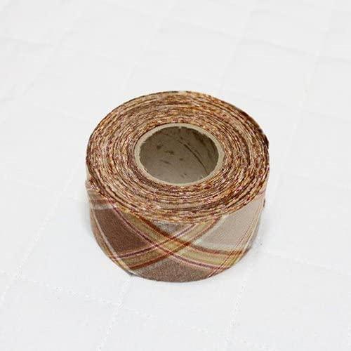 Bias Tape Binding Cotton Trim 4cm Check Bias Cut (Brown)