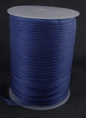 PEPPERLONELY Brand 500 Yards/Roll 6mm Dark Blue Organza Ribbon