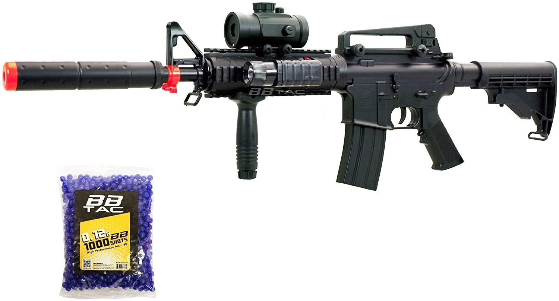 bbtac bt-m83+1000bb lpeg full auto electric power 250 fps airsoft gun with 1000 ball bearing(Airsoft Gun)