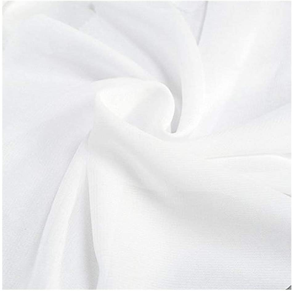 58 Solid Color Chiffon Fabric Rustic Sheer Bridal Wedding Party Decorations Backdrop, White, 10 Yards