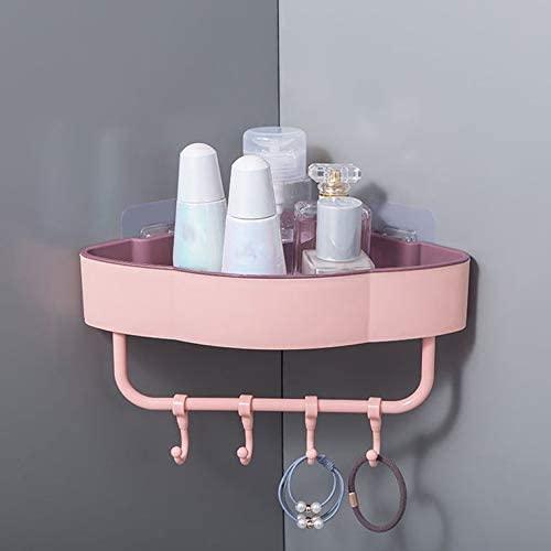 Punch-Free Triangle Storage Shelf for Kitchen Bathroom Corner Shelves Bedroom Wall-Mounted Storage Shelf