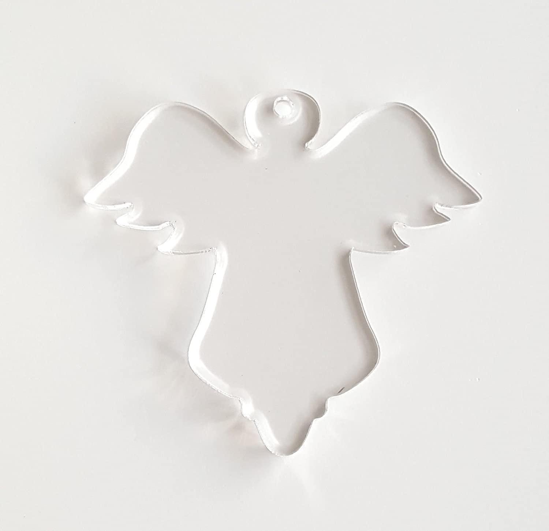 25 Acrylic Christmas Ornaments Blanks Angel 1/8