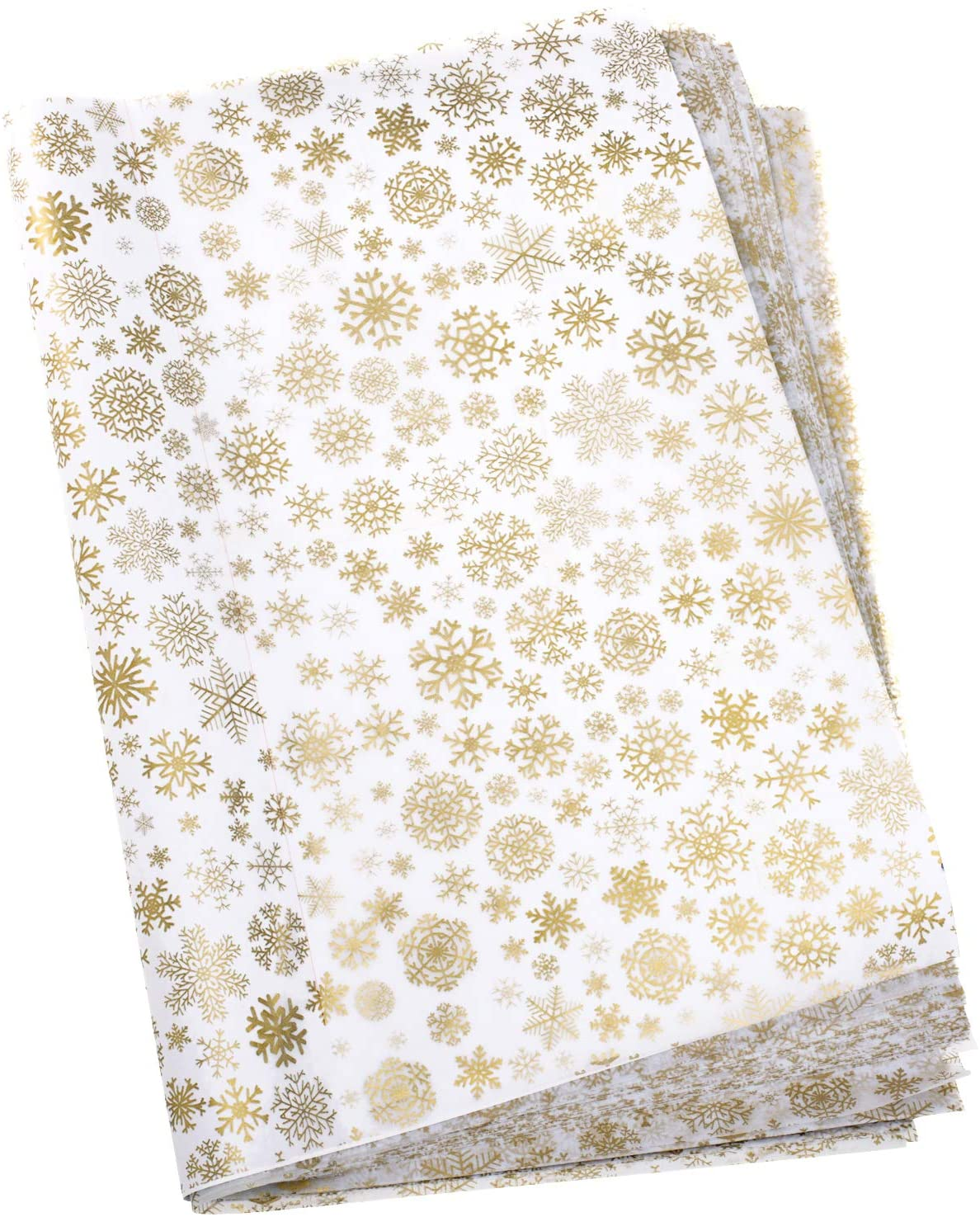 Whaline Snowflake Tissue Paper 20 x 28 Christmas Metallic Acid Free Wrapping Paper Bulk Big Size for Home, DIY and Craft, Gift Bags New Year Decorations, 60 Sheets (Gold)0 Sheets Tissue Paper Whaline Snowflake Acid Free 20 x 28 for Wrapping Paper DIY and Craft, Gift Bags Big Size Christmas Decorations (Gold)