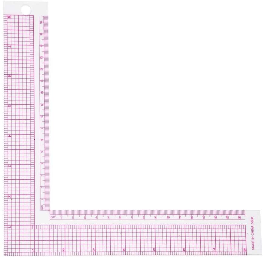 SunshineFace Plastic L-Square Shape Sewing Measuring Measure Ruler, Professional Tailor Craft Tool